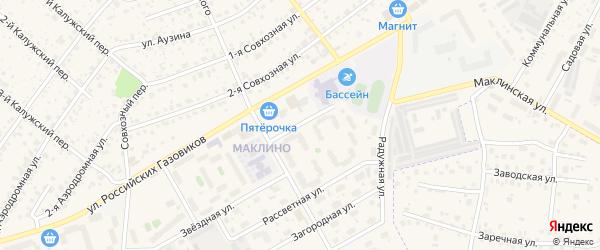 Улица Восточный тупик на карте Малоярославца с номерами домов