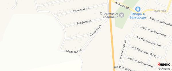 Степная улица на карте Пушкарного села Белгородской области с номерами домов