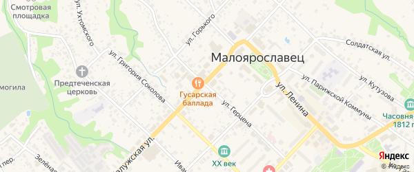 Улица Герцена на карте Малоярославца с номерами домов