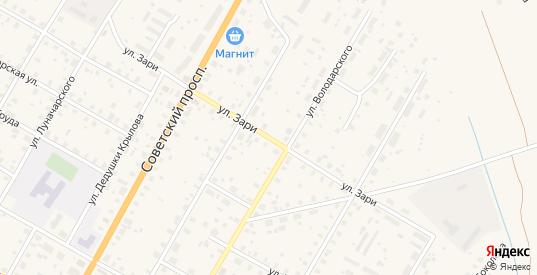 Улица Зари в Вытегре с номерами домов на карте. Спутник и схема онлайн