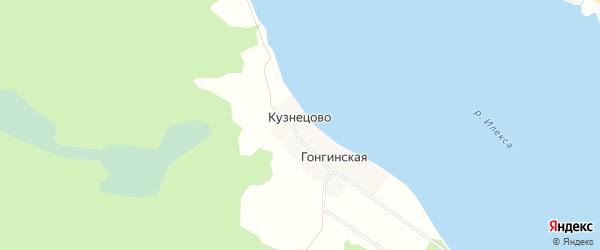 Карта деревни Кузнецово в Вологодской области с улицами и номерами домов