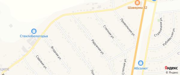 Радужная улица на карте Стрелецкого села с номерами домов