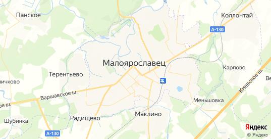 Карта Малоярославца с улицами и домами подробная. Показать со спутника номера домов онлайн