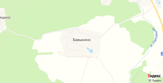СТ Бавыкино на карте Боровска с номерами домов