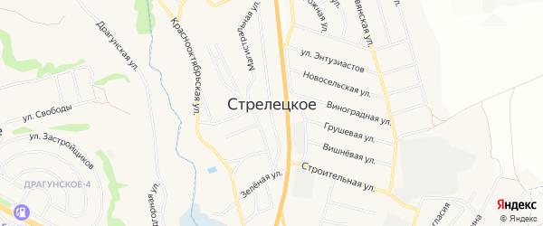 Карта Стрелецкого села в Белгородской области с улицами и номерами домов
