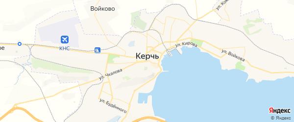 Карта Керчь с районами, улицами и номерами домов