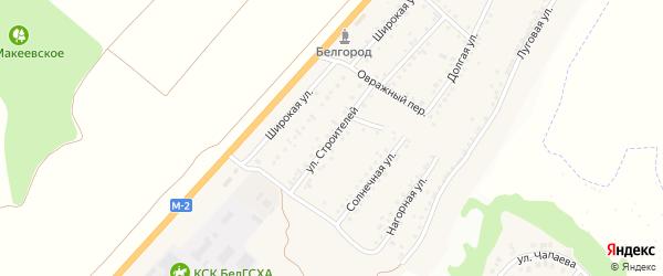 Улица Строителей на карте Майского поселка Белгородской области с номерами домов