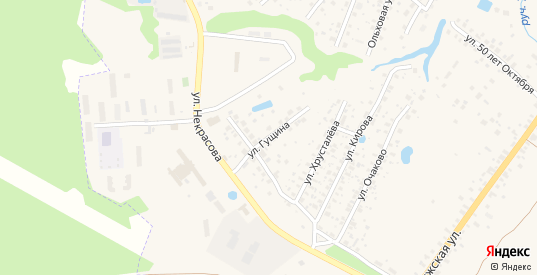 Улица Гущина в Боровске с номерами домов на карте. Спутник и схема онлайн