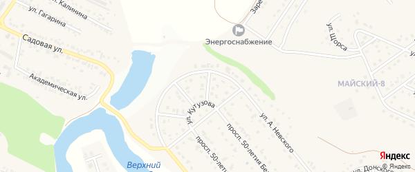 Кутузовский 3-й переулок на карте Майского поселка Белгородской области с номерами домов