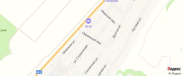 Овражный переулок на карте Майского поселка Белгородской области с номерами домов