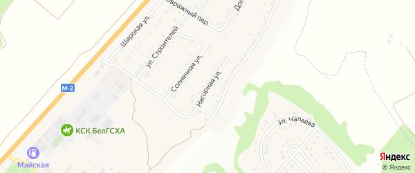 Нагорная улица на карте Майского поселка Белгородской области с номерами домов