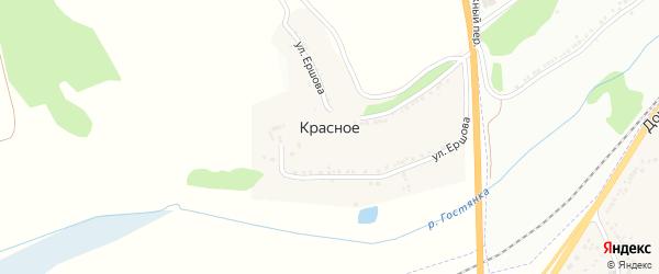 Ботаническая улица на карте Красного села с номерами домов