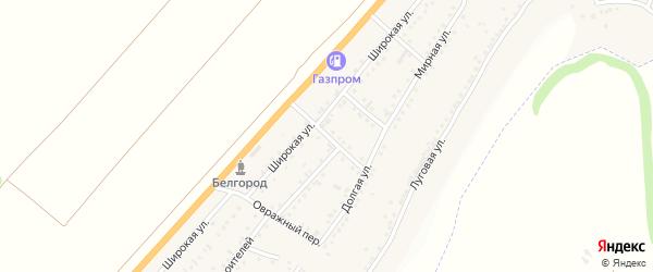 Мирный переулок на карте Майского поселка Белгородской области с номерами домов