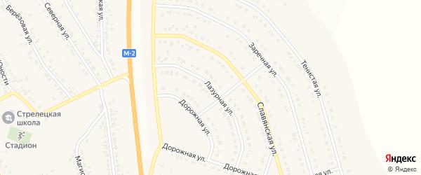 Лазурная улица на карте Стрелецкого села с номерами домов