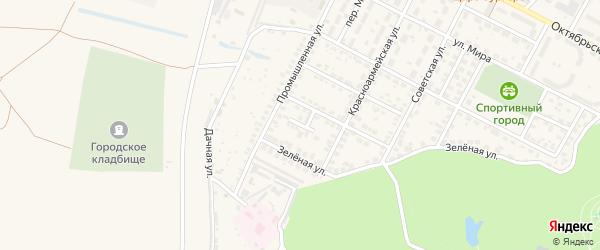 Садовый переулок на карте Строителя с номерами домов