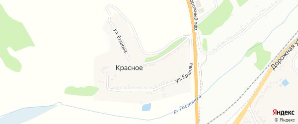 Улица Ершова на карте Красного села Белгородской области с номерами домов