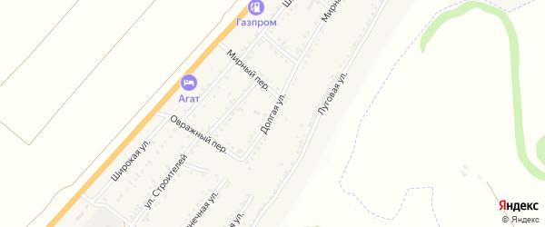 Долгая улица на карте Майского поселка Белгородской области с номерами домов