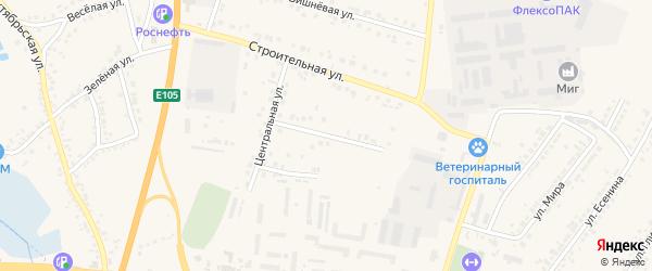 Строительный переулок на карте Стрелецкого села Белгородской области с номерами домов