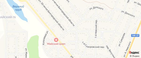 Невский 3-й переулок на карте Майского поселка с номерами домов
