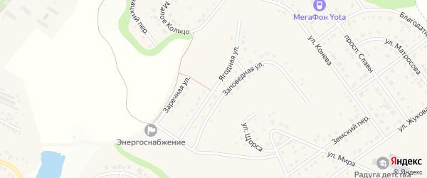 Ягодная улица на карте Майского поселка Белгородской области с номерами домов
