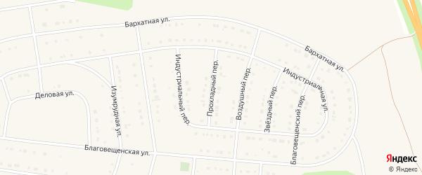 Прохладный переулок на карте Строителя с номерами домов