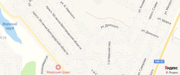 Улица А.Невского на карте Майского поселка Белгородской области с номерами домов
