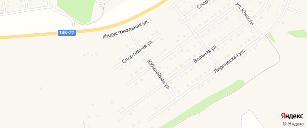 Юбилейная улица на карте Майского поселка Белгородской области с номерами домов
