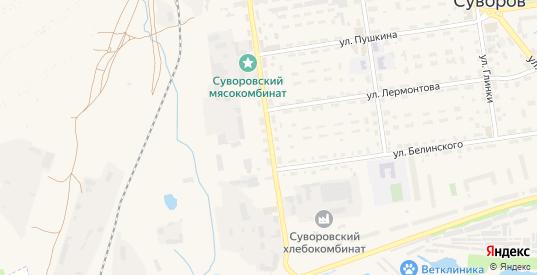 Улица Мусоргского в Суворове с номерами домов на карте. Спутник и схема онлайн