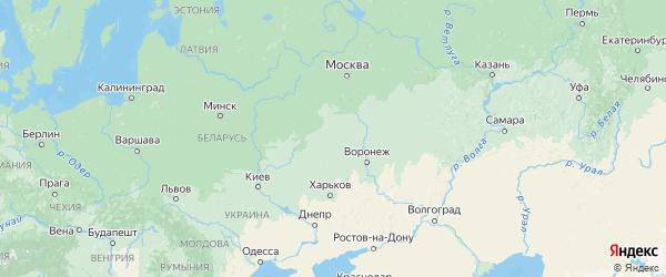 Карта Орловской области с городами и районами