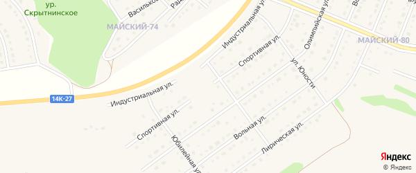 Спортивная улица на карте Майского поселка Белгородской области с номерами домов