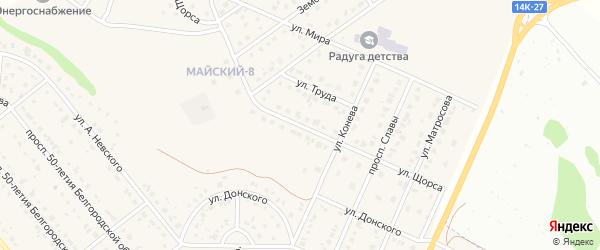 Улица Щорса на карте Майского поселка Белгородской области с номерами домов