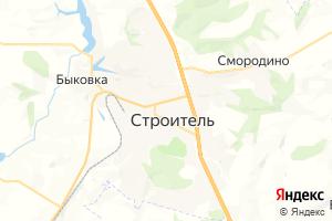 Карта г. Строитель Белгородская область