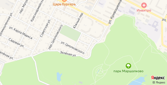 Переулок Новоселов в Строителе с номерами домов на карте. Спутник и схема онлайн