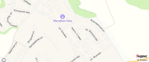 Проспект Славы на карте Майского поселка Белгородской области с номерами домов