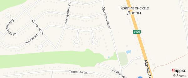 Ямской переулок на карте Строителя с номерами домов
