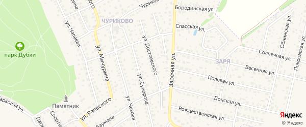 Улица Достоевского на карте Малоярославца с номерами домов