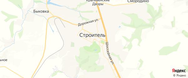 Карта Строителя с районами, улицами и номерами домов: Строитель на карте России