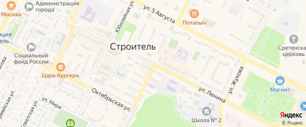 Изумрудный переулок на карте Строителя с номерами домов