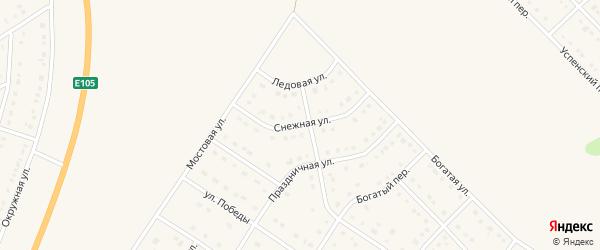 Снежная улица на карте Стрелецкого села с номерами домов
