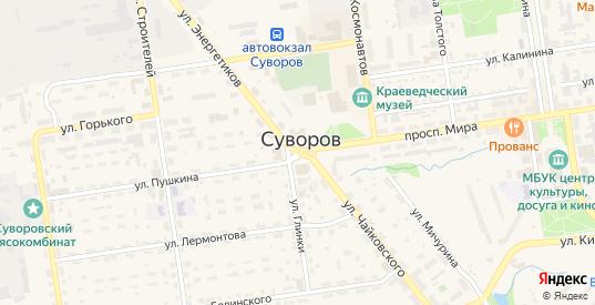Площадь Победы в Суворове с номерами домов на карте. Спутник и схема онлайн