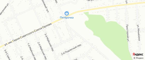 Успенский 1-й переулок на карте Белгорода с номерами домов