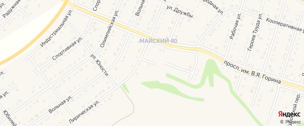Лирический переулок на карте Майского поселка Белгородской области с номерами домов