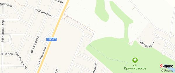 Олимпийский переулок на карте Майского поселка Белгородской области с номерами домов