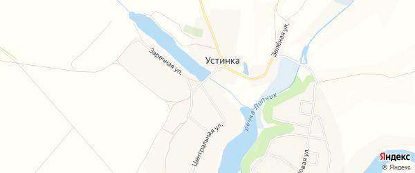 Карта села Устинки в Белгородской области с улицами и номерами домов
