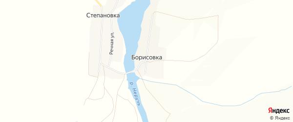 Карта деревни Борисовки в Орловской области с улицами и номерами домов