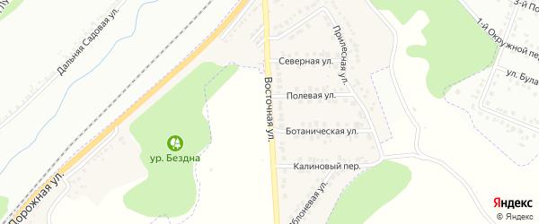Восточная улица на карте Майского поселка Белгородской области с номерами домов