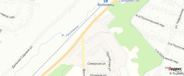 Шоссейная улица на карте Майского поселка Белгородской области с номерами домов