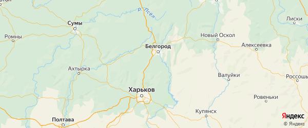 Карта Белгородского района Белгородской области с городами и населенными пунктами