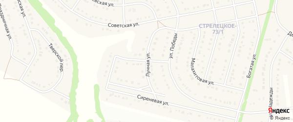 Лунная улица на карте Стрелецкого села с номерами домов