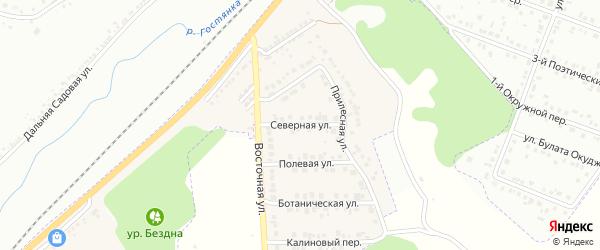 Северная улица на карте Майского поселка Белгородской области с номерами домов